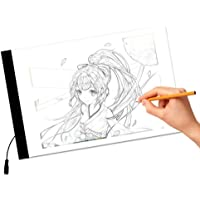 A4 LED Light Box Art Design Stencil Board Table Tracing Drawing Pattern Tracing Copy Pad Board(3-Level Adjustable…