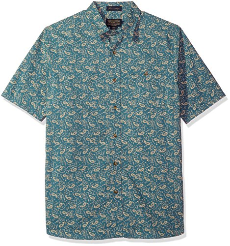 Paisley Fitted Shirt (Pendleton Men's Short Sleeve Fitted Kay Street Shirt, Paisley Print, MD)