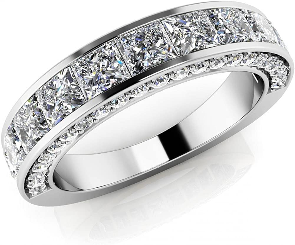 It is just a picture of Amazon.com: 38.38 ct Ladies Round and Princess Cut Diamond Eternity
