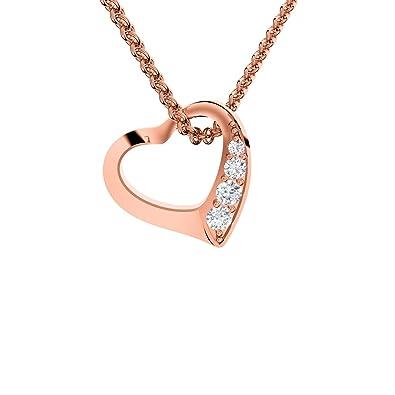 Swarovski® Kristalle Roségold im Etui Halskette /& Anhänger Herz Kette Damen
