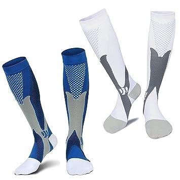 Damen Herren Stützstrümpfe Anti-Müdigkeit Kompressionsstrümpfe Socken ~/_