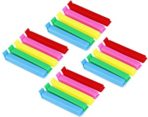 CDOFFICE 20 PCS Plastic Sealing Clips for Food and Snack Bag(4.3 inches)
