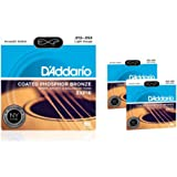 D'Addario EXP16 Coated Phosphor Bronze Light Acoustic Guitar Strings 3-Pack