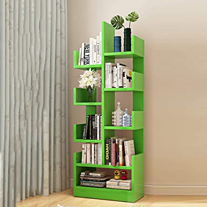 Shelves MEIDUO 8 Shelf Tree Bookshelf Modern Bookcase Book Rack Display Storage Organizer For
