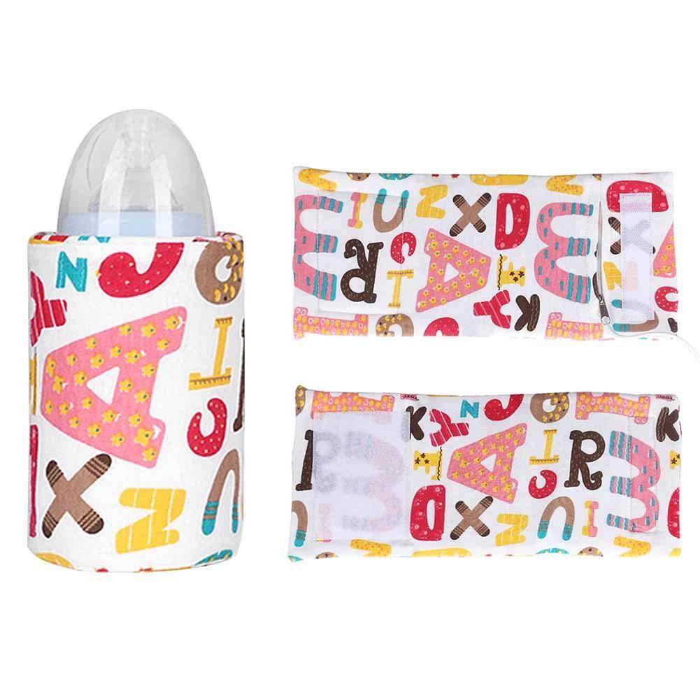 VOVI Baby Bottle Warmer Breast Milk Warmer Portable Baby Feeding Bottle Traveling Milk Heating Warmer Insulation Bag USB Constant Temperature Bottle Warmer Baby Feeding Bottle Bag