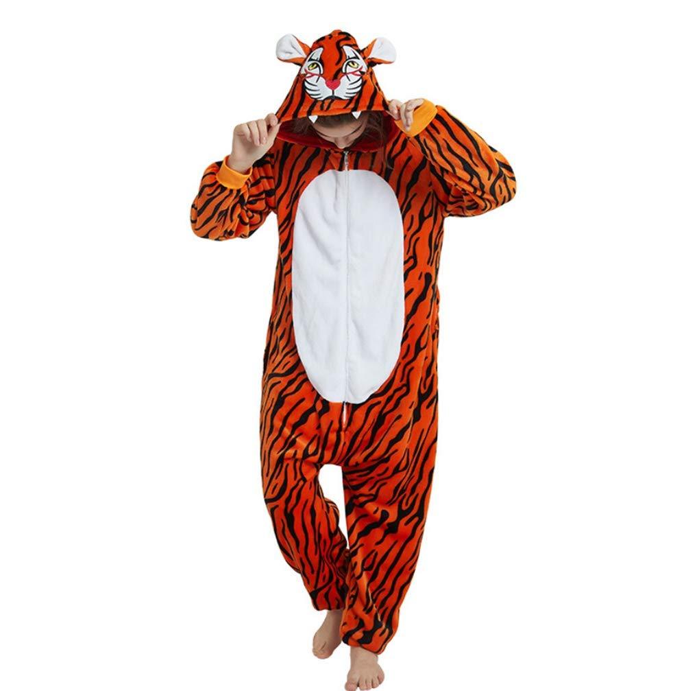 small Sweetheart -LMM donna uomo tuta Halloween Unicorn Onesie costume pigiama di flanella super morbido Kigurumi Animal Cosplay vestaglia invernale per unisex adulto e teenager Lion