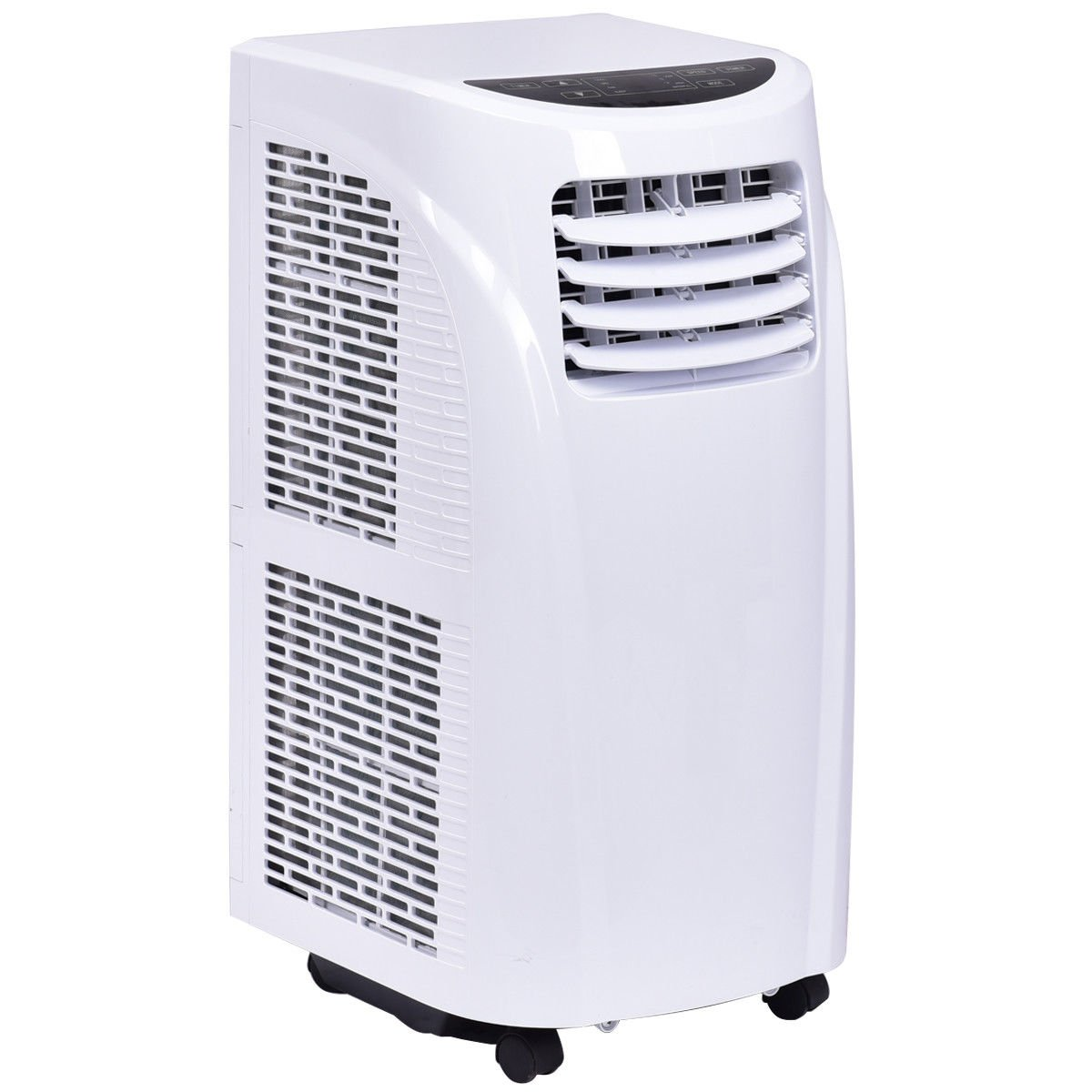 Costway 10,000 BTU Portable Air Conditioner with Remote Control Dehumidifier Function Window Wall Mount in White by COSTWAY (Image #4)