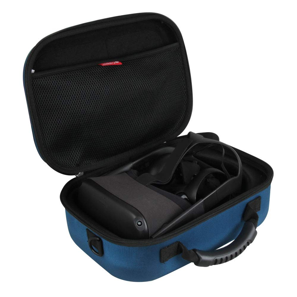 Hermitshell Hard EVA Travel Case for Oculus Quest All-in-one VR Gaming Headset 64GB and 128GB (Blue)