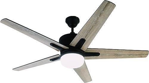 Nocolliny Industrial-Rustic Ceiling Fan 52″