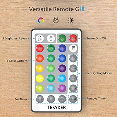 tesyker USB Powered Multicolor Fairy Lights with Remote, Dimmable 16 Colors 33 Ft 100 LEDs Silver Wire Color Lights, Waterproof String Lights for Indoor Bedroom Christmas Wedding Costume