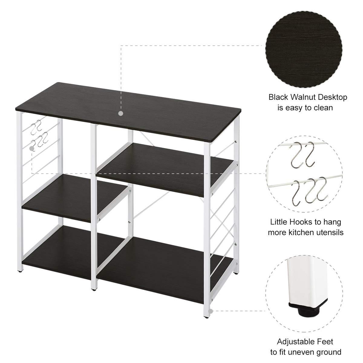WLIVE Multi-Purpose Wood Kitchen Cart (Black) by WLIVE (Image #3)