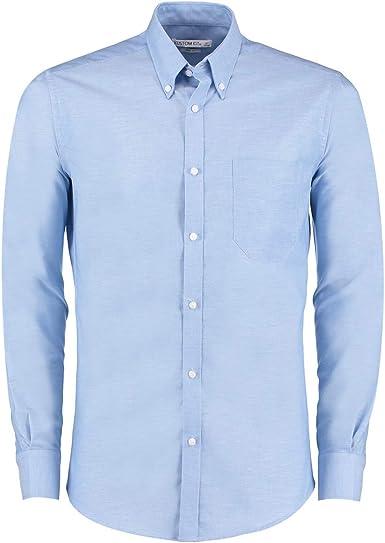 KUSTOM KIT - Camisa Slim Oxford de Manga Larga para Chico Hombre: Amazon.es: Ropa y accesorios