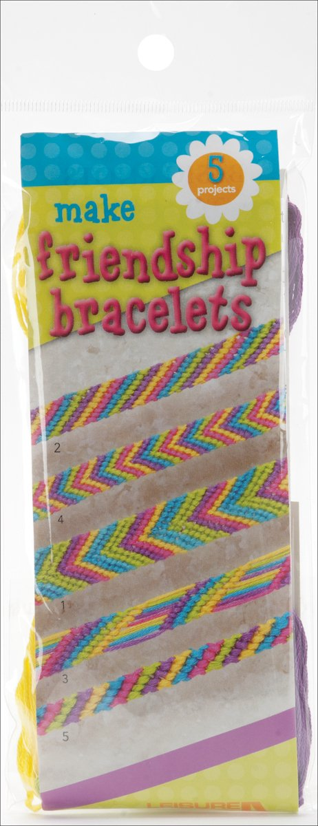 Leisure Arts Make Friendship Bracelets Kit-Makes 5- Notions - In Network 46781