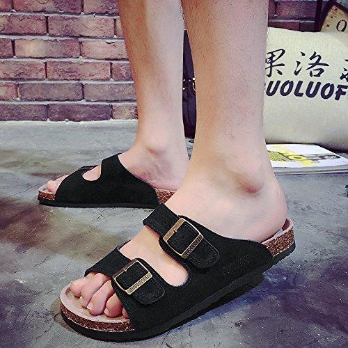 estate grandi pantofole Uomini skid femmina tide pantofole cool 45 fankou numeri di anti ciabatte nero coppie xSaBqwEC