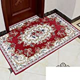 Continental door mats/Door mats/Bedroom bathroom water-absorbing mat/Entrance mat-D 70x140cm(28x55inch)