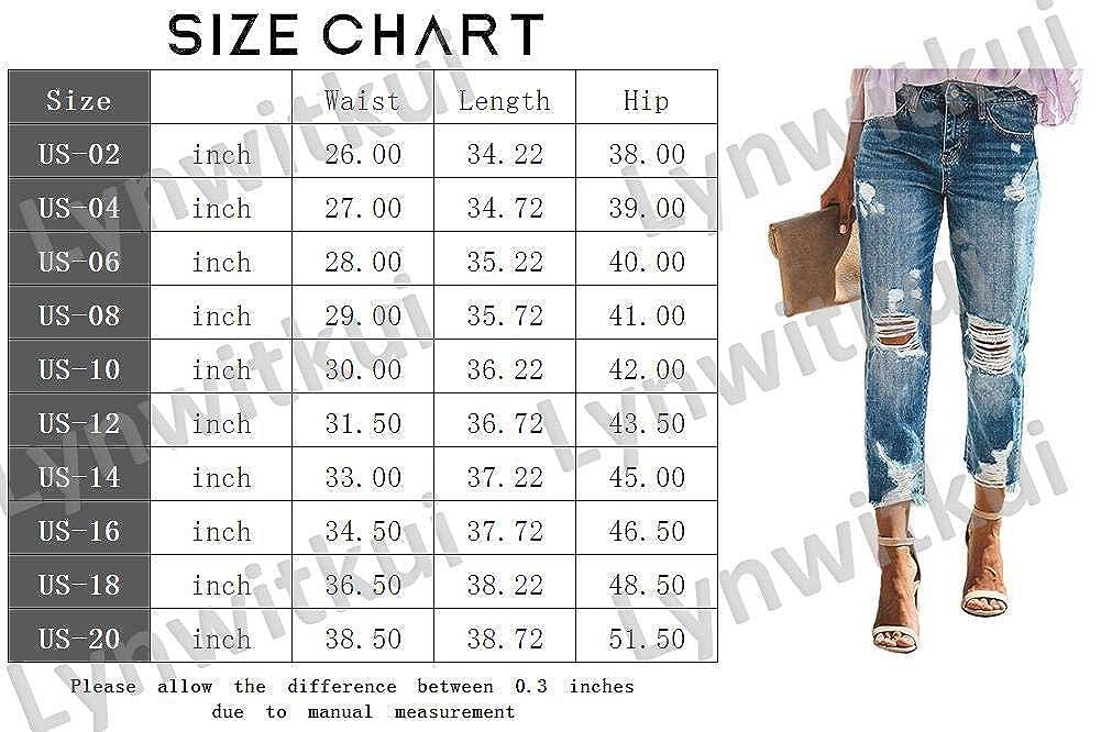 Amazon.com: Lynwitkui - Pantalones vaqueros para mujer: Clothing
