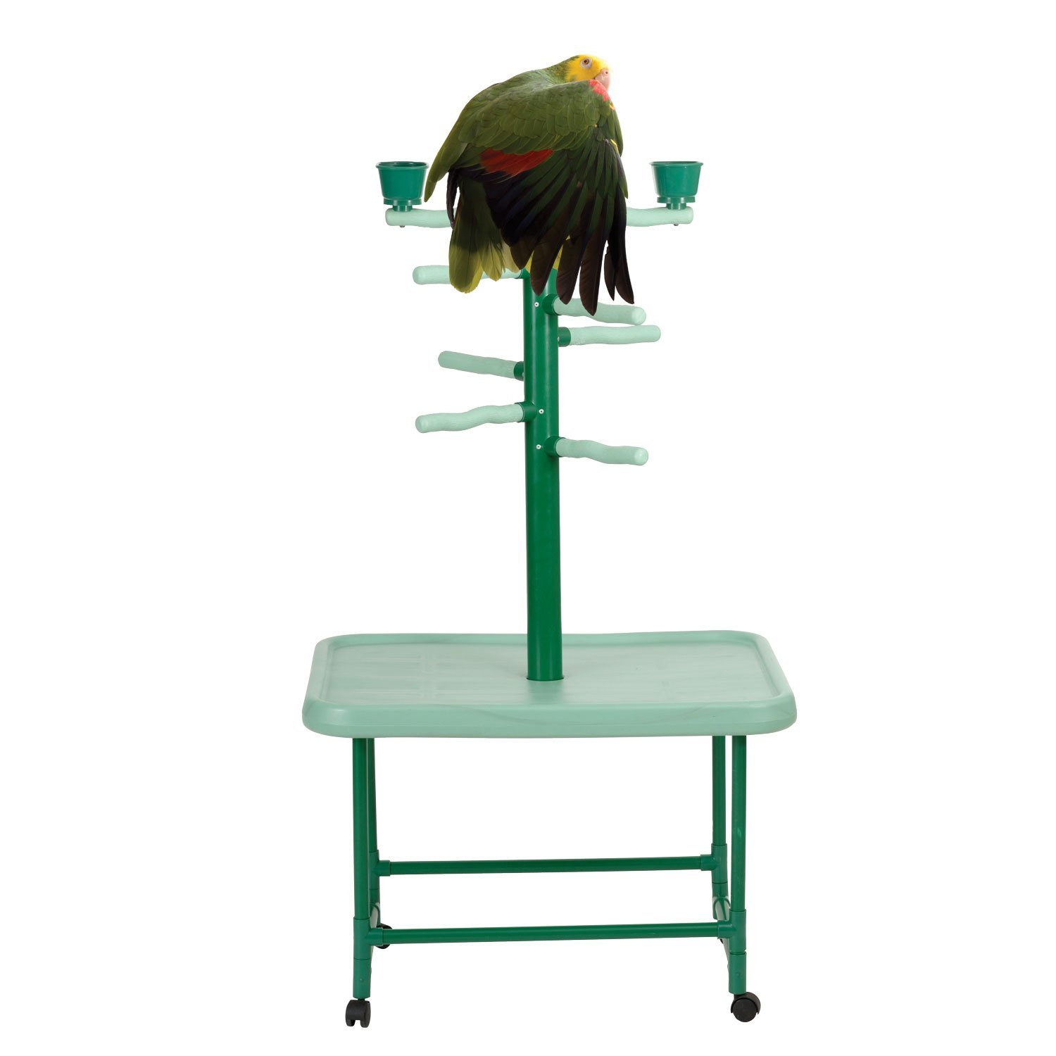 Acrobird, Medium Play Tower, 54-Inch H by 22-Foot D by 32-Inch L, Green by Acrobird