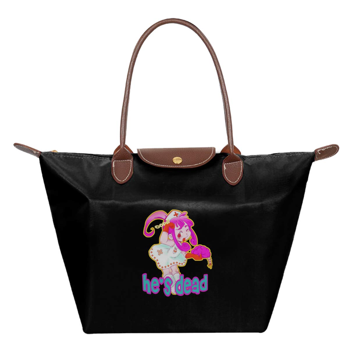 Oopsi HES Dead Kawai Nurse Waterproof Leather Folded Messenger Nylon Bag Travel Tote Hopping Folding School Handbags