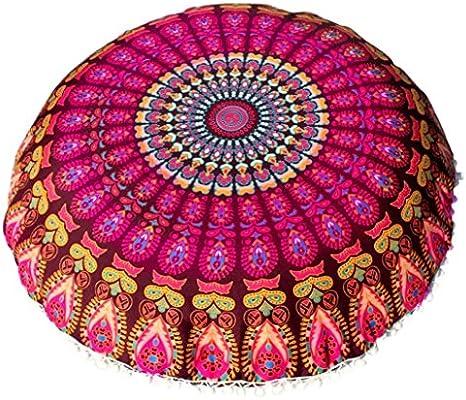 Amazon.com: 80 × 80 cm Funda almohadas Mandala piso Ronda ...