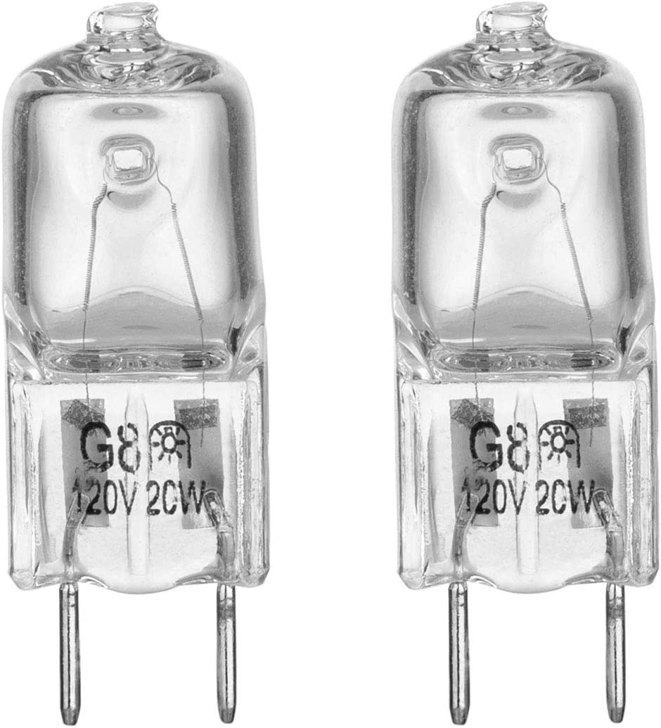 Light Bulb for GE Microwave Oven - Halogen Light Bulb Fits for GE Samsung Kenmore Elite Maytag Over the Stove Range Microwave, Night Light/Stove Light Bulb for GE microwave, Replaces WB25X10019, 2Pack