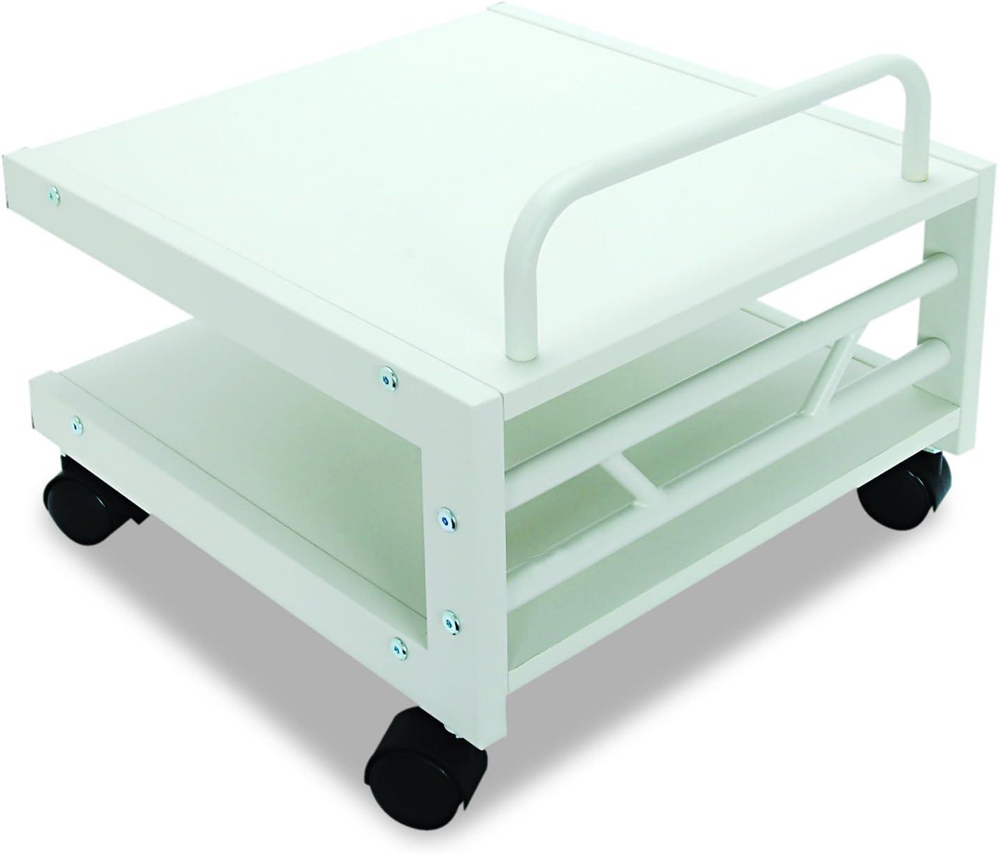Balt Low Laser Printer Stand, 27501, 14''H x 17''W x 17''D, Brushed silver steel frame, Gray laminate shelves: Home & Kitchen