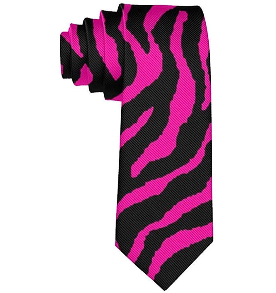 Corbata de moda para hombre Corbata de cebra negra rosa Corbata de ...