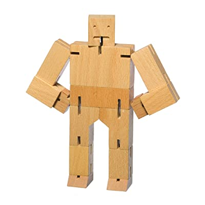 Areaware Cubebot Small (Natural): Toys & Games