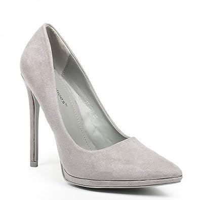 King Of Shoes Klassische Damen Stilettos Pumps High Heels Plateau Schuhe Spitz 50