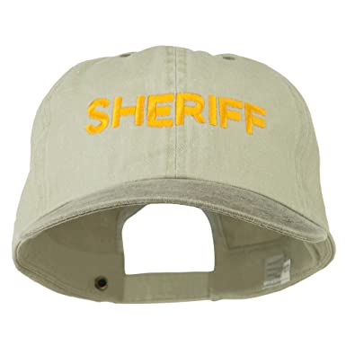 3024fb1176c E4hats Sheriff Letter Embroidered Big Size Washed Cap - Putty Brown OSFM