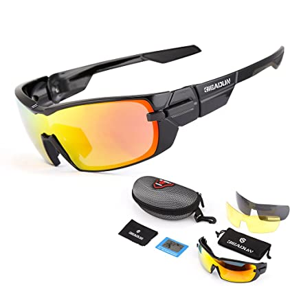43cfa5fcfc GIEADUN Sports Sunglasses Polarized UV400 Protection Cycling Glasses with 3  Interchangeable Lenses for Cycling