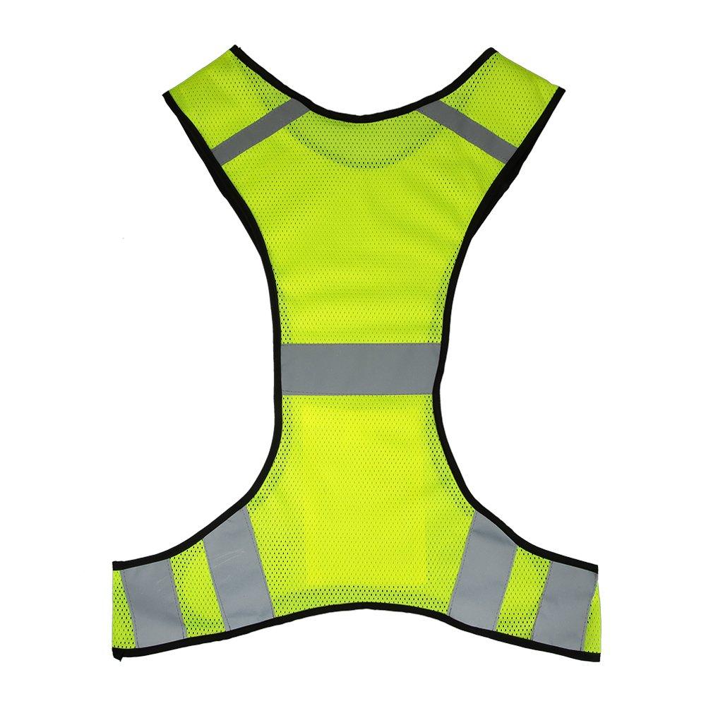 Lixada Ligera Malla Transpirable Chaleco Reflectante De Alta Visibilidad Chaleco De Seguridad De Engranajes Para Correr Caminar Correr Ciclismo