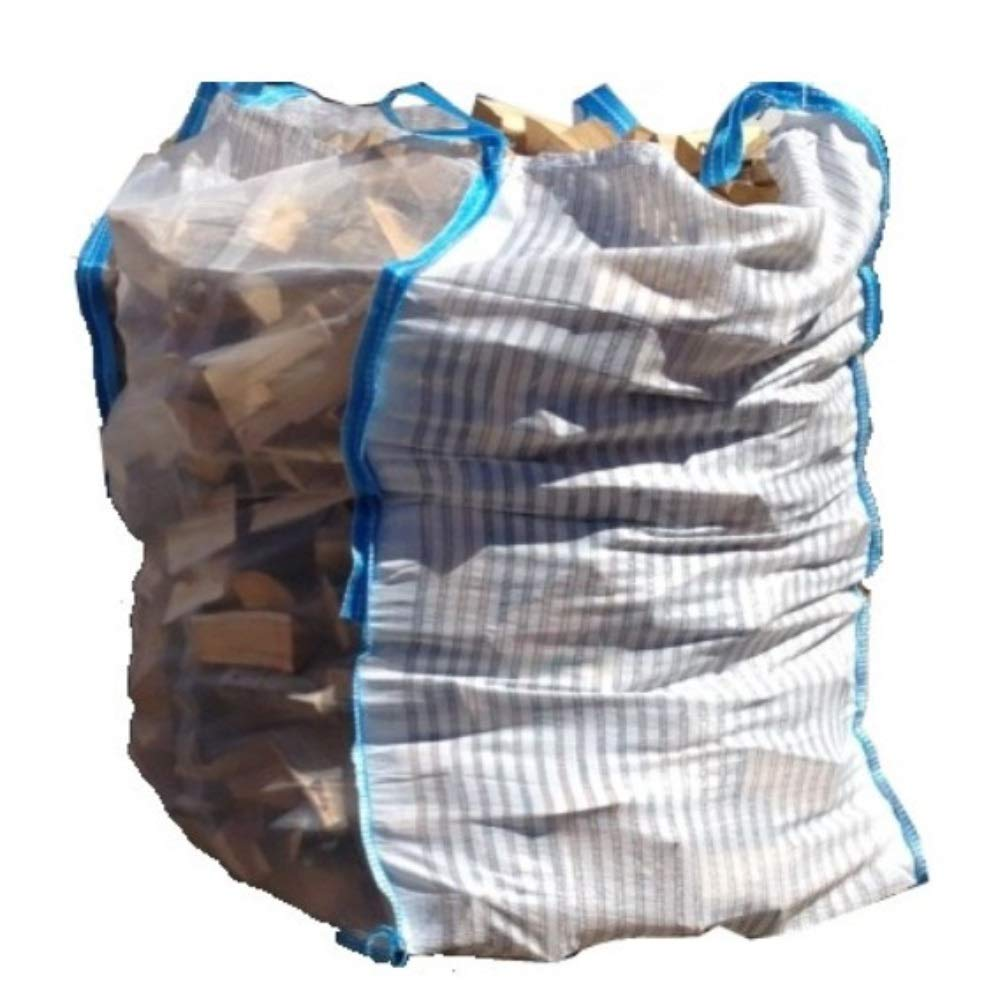 10 x Hochwertiger Holz Big Bag mit Auslaufboden/Sternenboden speziell für Brennholz * Holzbag, Woodbag * 100x100x120cm * Netzgittergewebe * Holz trocknen + transportieren Holzbag24