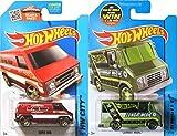 Combat Medic & Fire Chief 2 Van Set Hot Wheels 2015 Red & Green Versions Super Van in PROTECTIVE CASES