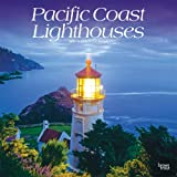 Image for Pacific Coast Lighthouses 2021 12 x 12 Inch Monthly Square Wall Calendar, USA United States of America West Coast Scenic…