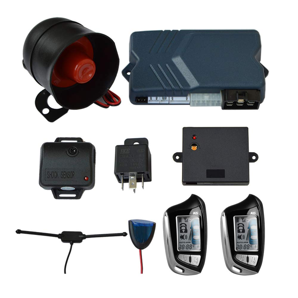 BANVIE 2-Way LCD Car Alarm System with Remote Start by BANVIE