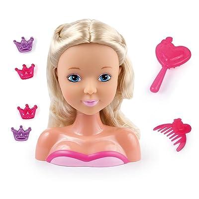 Bayer Design - Cabeza para peinar, My Lovely Princess con accesorios. Color Rosa, Rubio: Juguetes y juegos