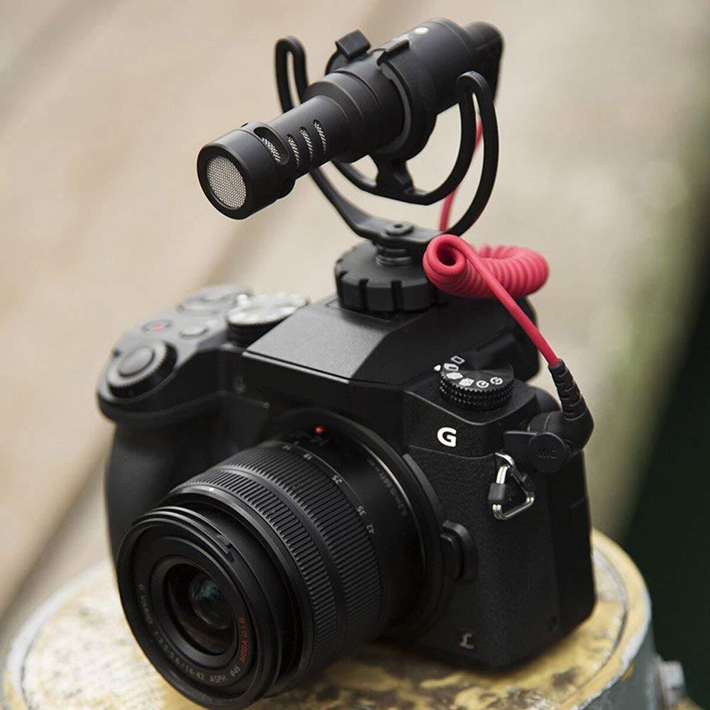Fishyu C/ámara Conector Auxiliar Soporte con Rycote Lira Soporte para Rode Videomicro Videomic Me Micr/ófono