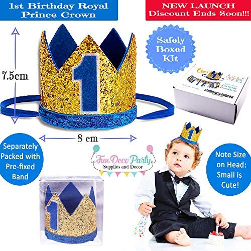 Buy royal blue 1st birthday party supplies