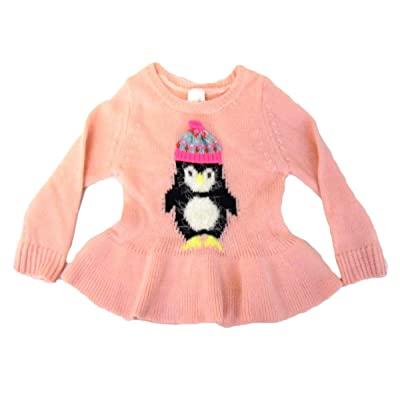 Baby Girls Parlor Pink Penguin Sweater by Cat & Jack
