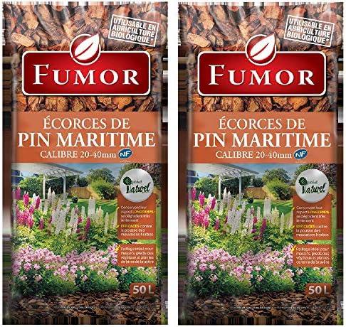 Fumor – Cortes de pino Maritime 100 l – Ideal para los macizos de los pies, plantas de tierra, ruidero 100 % natural – Fumpin: Amazon.es: Jardín