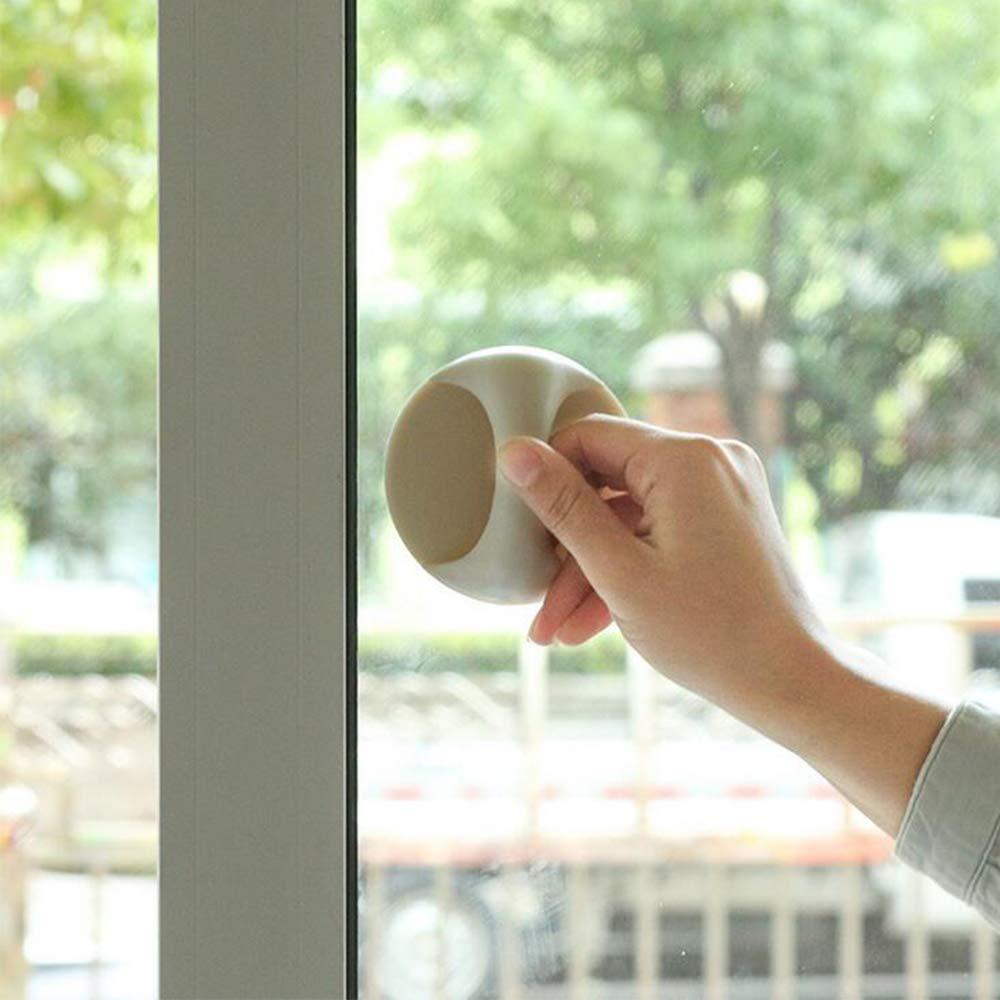 Xinlie Manija para puerta corrediza Manija para muebles Manija de concha para puerta de vidrio Puerta corrediza Ventana Perilla para muebles Manija para muebles Manijas 9 /× 9 /× 4.5 cm 6 Piezas