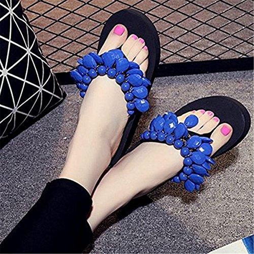 Femme Bleu FAIRYRAIN Chaussons BOITRFETk pour 71 TwXpxqnIp0