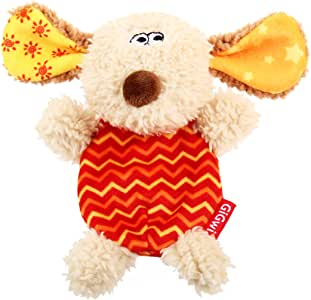 Gigwi Plush Dog Squeaker Toy