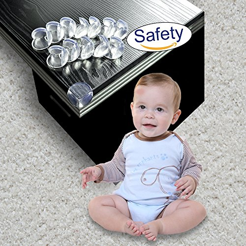 Baby Corner Guards, HOOYEE 12 Pack Furniture Edge Protectors Child Proofing & Baby Safety Desk Table Sharp Corner Cushion Padding, Help Protect Against Bumps and Injuries