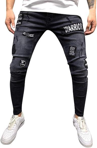 Hombre Pantalones Hombres Vaqueros Originales Rotos Casuales Motocicleta Pantalones Slim Agujero Elasticos Streetwear Moda Pantalon Xinantime Pantalones Vaqueros Para Hombre Ropa Reskill Uom Gr