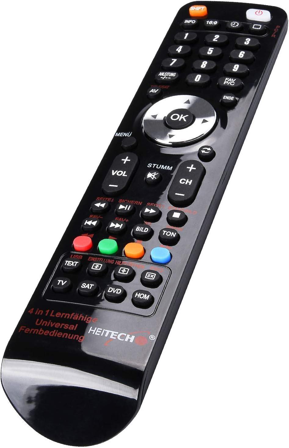Heitech Universal Fernbedienung Für 4 Geräte 4in1 Elektronik