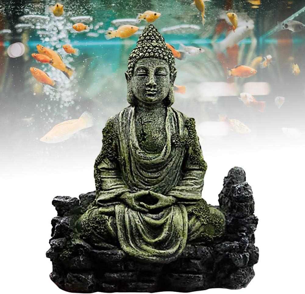 Aquarium Decorations,Resin Ancient Buddha Statue Zen Fish Tank Landscaping Decoration Aquarium Ornaments Fish Tank Aquarium Decorations