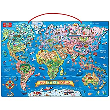 Amazon ts shure wooden magnetic world map puzzle toys games ts shure wooden magnetic world map puzzle gumiabroncs Images