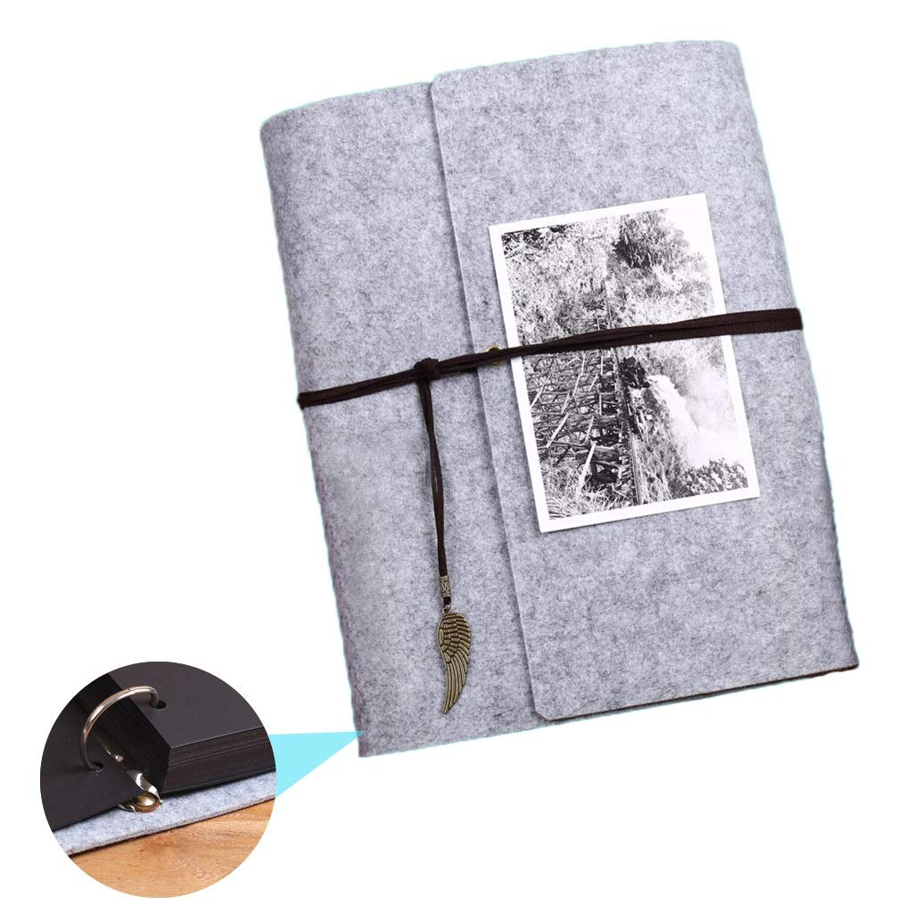 Album Book Photo Organizer Wedding Album Home Album Paste Classmates Large Capacity Photo Company Best Gift Stamp Book (Color : Gray, Size : 31234cm) by Photo Albums