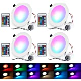 Pack Of 10 Led Color Changing Recessed Lighting 3w Rgb